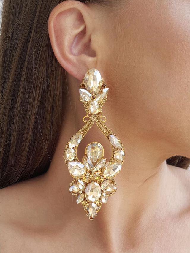 Crystal Earrings 363a