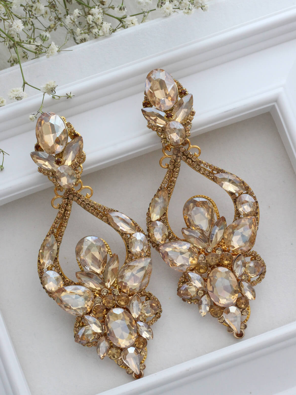 Crystal Earrings 363b