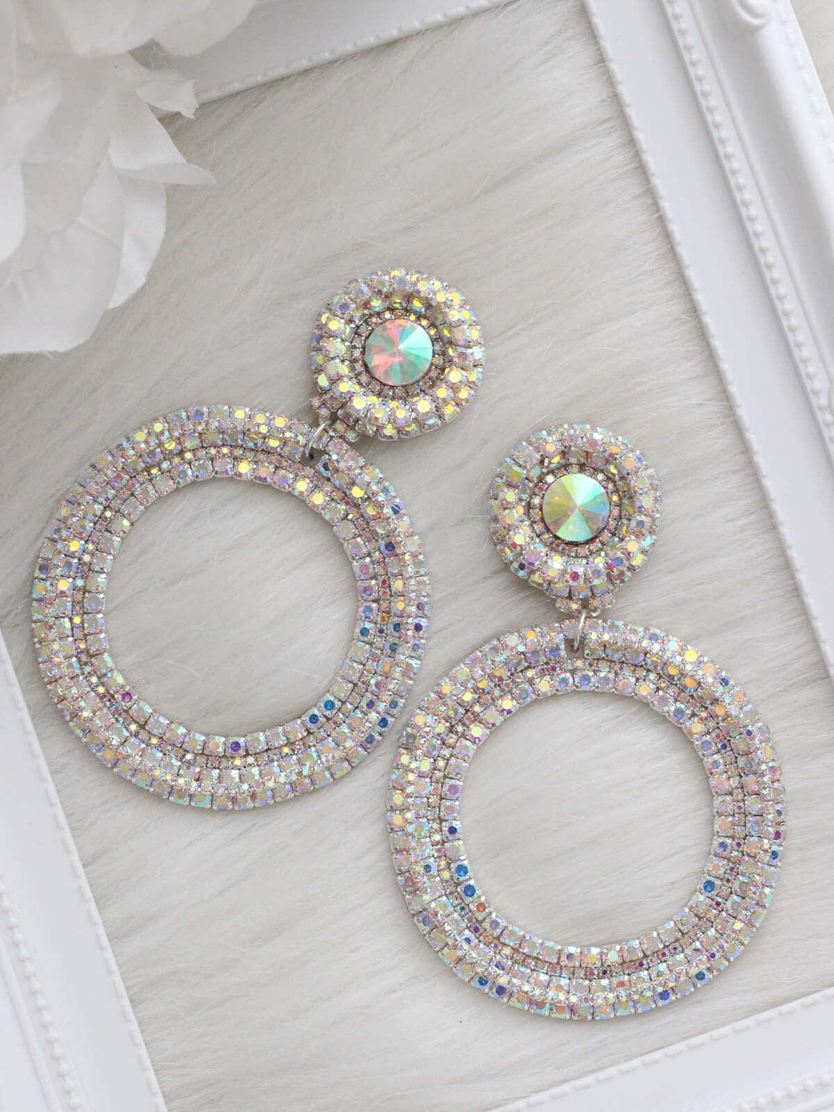 Crystal Earrings 528b